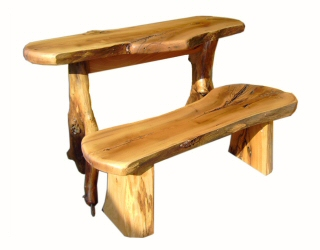 Handcrafted Oak Table & Bench