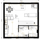 Wood 24x24 cabin plans with loft pdf plans for 24x24 cabin floor plans