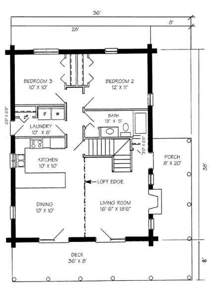 28x38 main floor plan