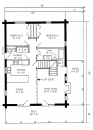 28x38 main floor plan
