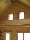 Ridge log and inside gable